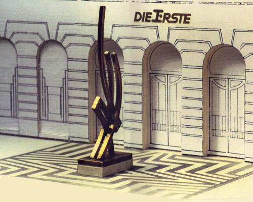 Bronzeplastik/ Erste Österreichische Sparkasse am Graben