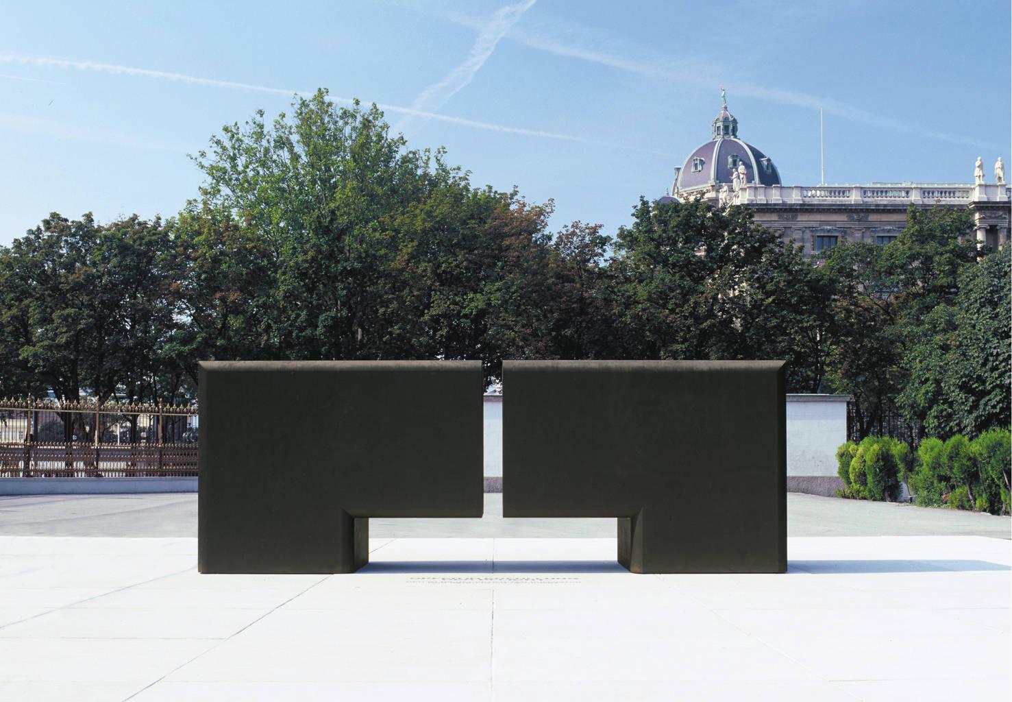 Stahlplastik Heldenplatz Denkmal der Exekutive