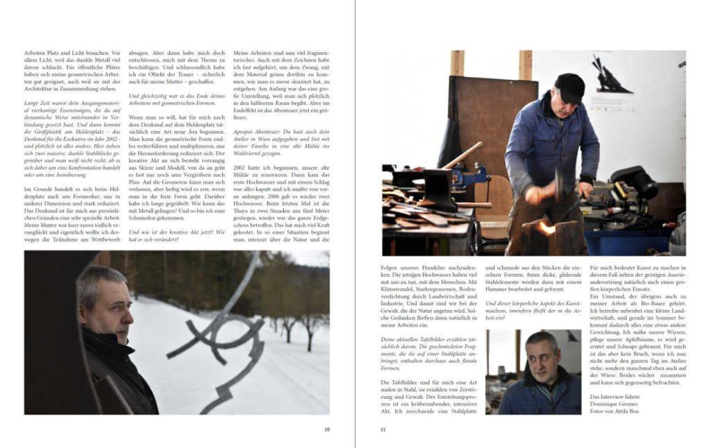 Auszug Kunstmagazin Florian Schauberger